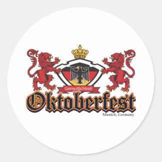 Oktoberfest Lions Classic Round Sticker