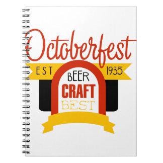 Oktoberfest Logo Design Template Notebook