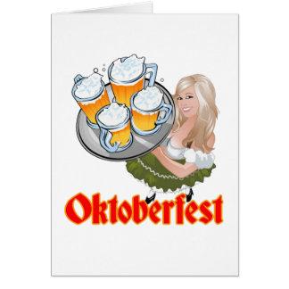 Oktoberfest Mädchen Card