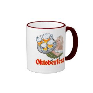 Oktoberfest Mädchen Ringer Coffee Mug
