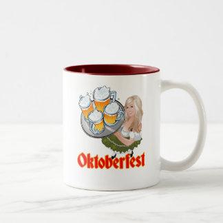 Oktoberfest Mädchen Two-Tone Coffee Mug