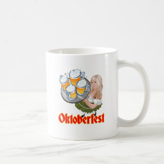 Oktoberfest Mädchen Classic White Coffee Mug