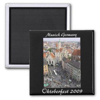 Oktoberfest Magnet, Munich Germany 2 Inch Square Magnet
