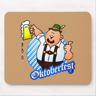 Oktoberfest - man in lederhosen mouse pad