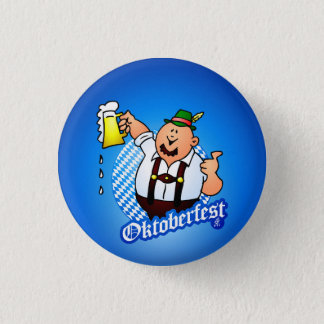 Oktoberfest - man in lederhosen pinback button
