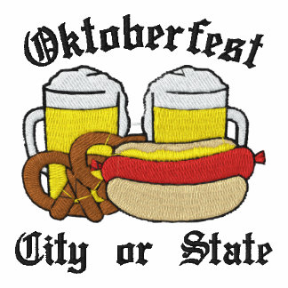 Oktoberfest mecanografía adentro la ciudad, estado polo bordado