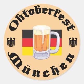 Oktoberfest Munchen Classic Round Sticker
