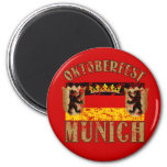 Oktoberfest Munich Distressed Look Design Fridge Magnet
