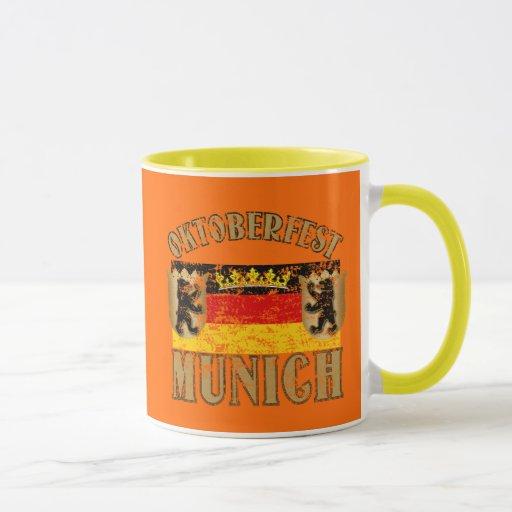 Oktoberfest Munich Distressed Look Design Mug