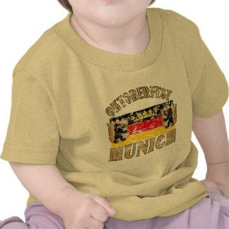 Oktoberfest Munich Distressed Look Design T Shirts