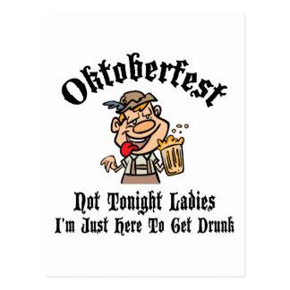 Oktoberfest Not Tonight Ladies Gift Postcard