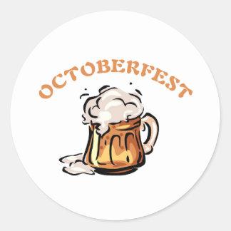 Oktoberfest Octoberfest Beer Mug Classic Round Sticker
