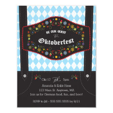 Oktoberfest (octoberfest) German Party Invitation at Zazzle