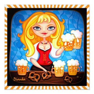 Oktoberfest - Octoberfest Invitación 13,3 Cm X 13,3cm