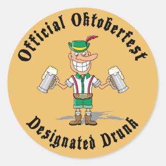 Oktoberfest oficial señalado bebido etiqueta redonda