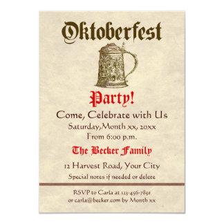 Oktoberfest Party 4.5x6.25 Paper Invitation Card