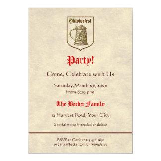 Oktoberfest Party 5x7 Paper Invitation Card