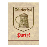 Oktoberfest Party Custom Announcement