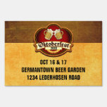 Oktoberfest Party Custom Date and Location Sign