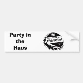 Oktoberfest Party in the Haus Car Bumper Sticker