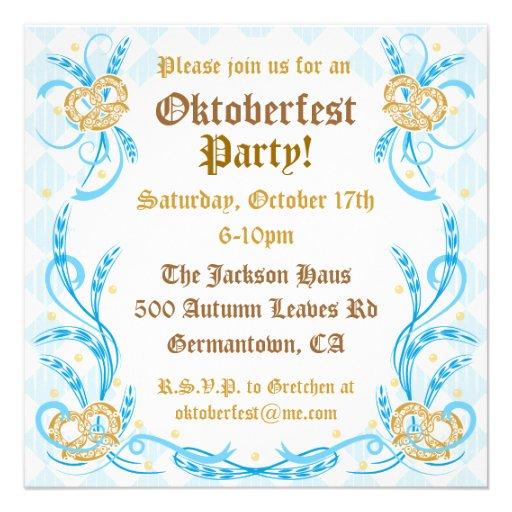 Oktoberfest Party Invitation (back side)