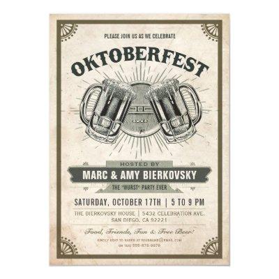 Wurst Party Ever Oktoberfest Invitations – Oktoberfest Party Invitations