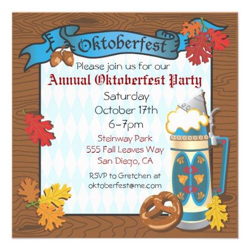Oktoberfest Party Invitations