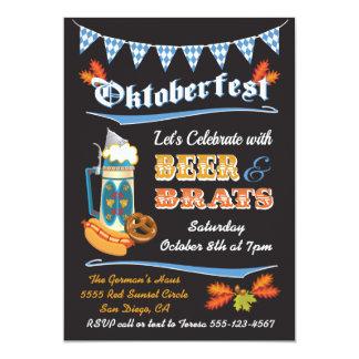 Oktoberfest Party Poster Invitation