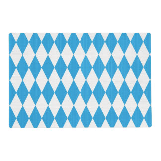 Oktoberfest pattern with fabric texture placemat