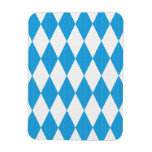 Oktoberfest pattern with fabric texture rectangular photo magnet
