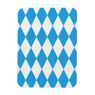 Oktoberfest pattern with fabric texture rectangular photo magnet