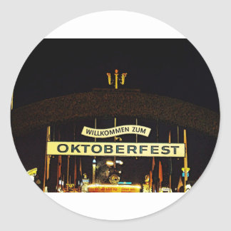 Oktoberfest Pegatinas Redondas