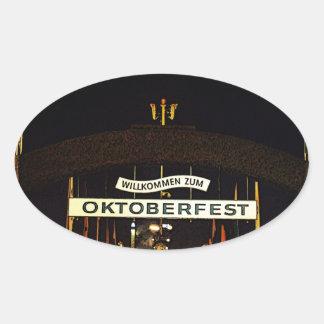 Oktoberfest Pegatina De Oval Personalizadas