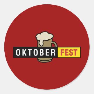 Oktoberfest Pegatina Redonda