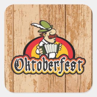 Oktoberfest Calcomanía Cuadrada Personalizada