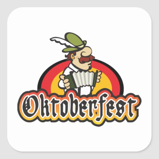 Oktoberfest Pegatina Cuadrada