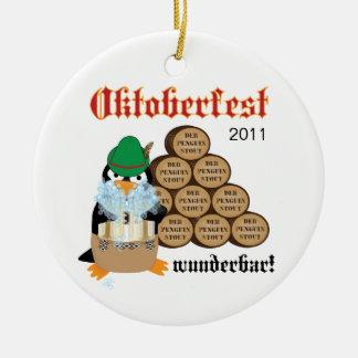 Oktoberfest Penguin Ornament