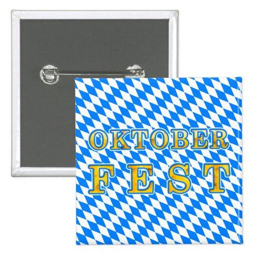 Oktoberfest Pin Cuadrada 5 Cm