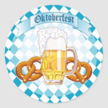 Oktoberfest Pretzels & Beer Classic Round Sticker