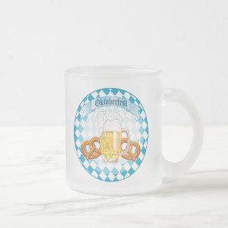 Oktoberfest Pretzels & Beer Frosted Glass Coffee Mug