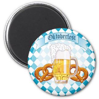 Oktoberfest Pretzels & Beer Fridge Magnet