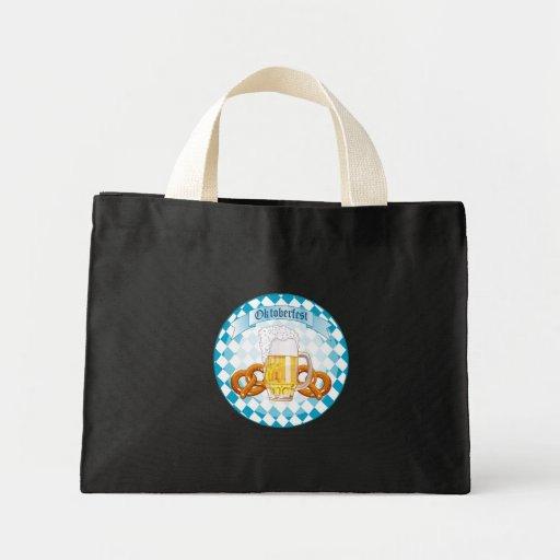 Oktoberfest Pretzels & Beer Mini Tote Bag
