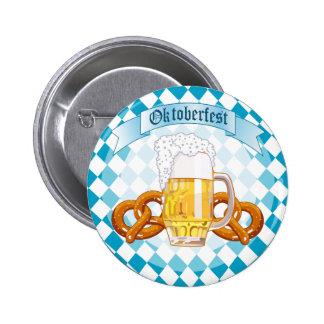 Oktoberfest Pretzels & Beer Pinback Button