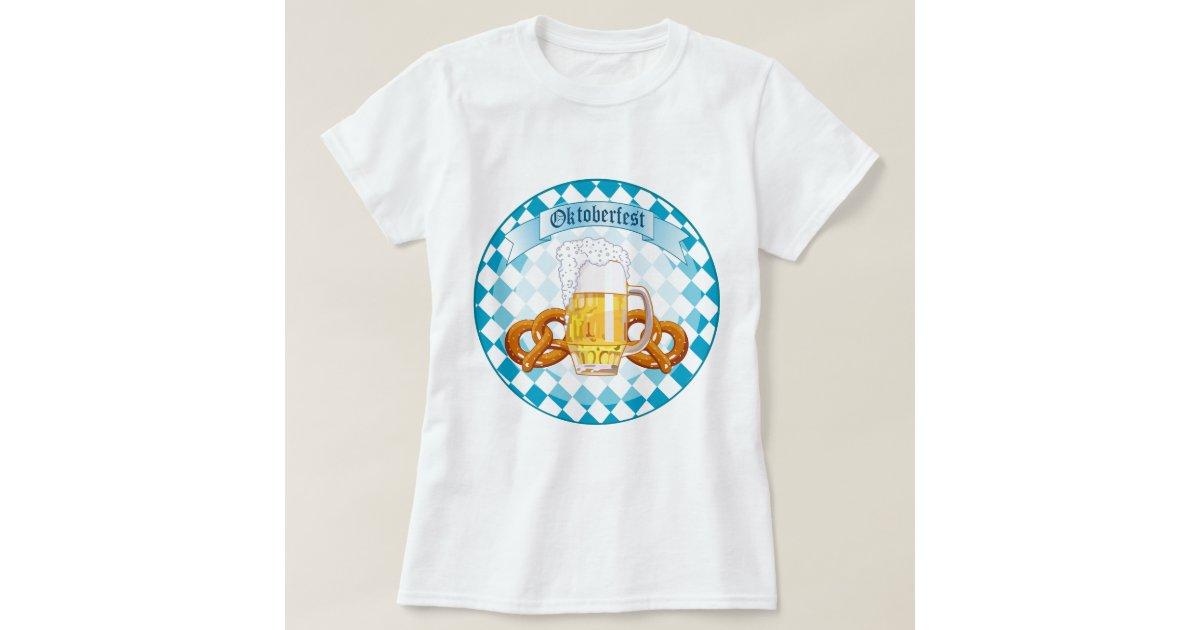 oktoberfest pretzels beer t shirt zazzle. Black Bedroom Furniture Sets. Home Design Ideas