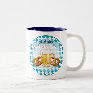 Oktoberfest Pretzels & Beer Two-Tone Coffee Mug