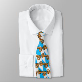 oktoberfest pretzels with text neck tie