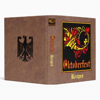 Oktoberfest Recipe Collection Vinyl Binders