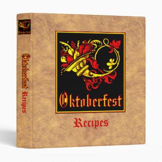 Oktoberfest Recipe Collection 3 Ring Binders