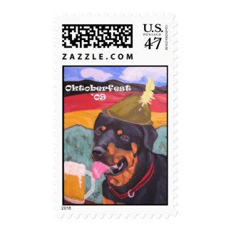 Oktoberfest Rottie postage