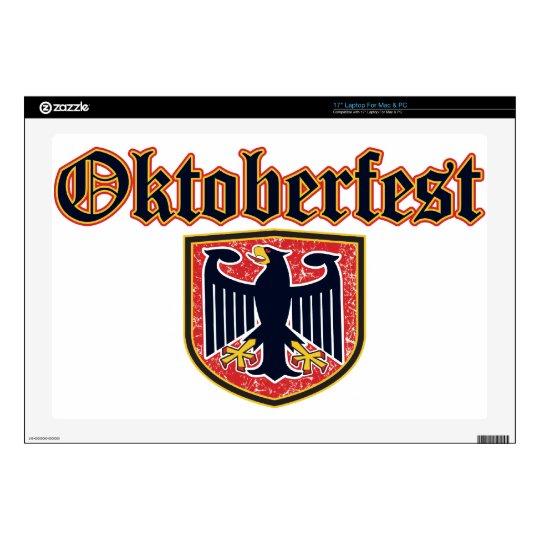"Oktoberfest Shield 17"" Laptop Decal"